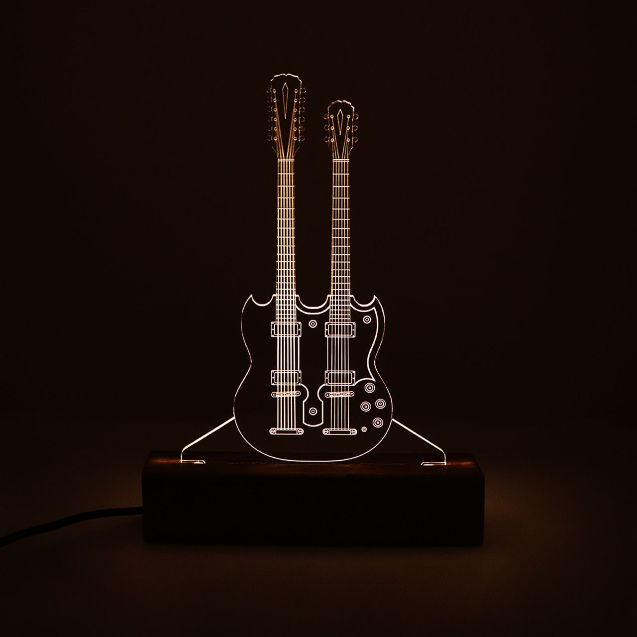 Luminária Guitarra Dupla