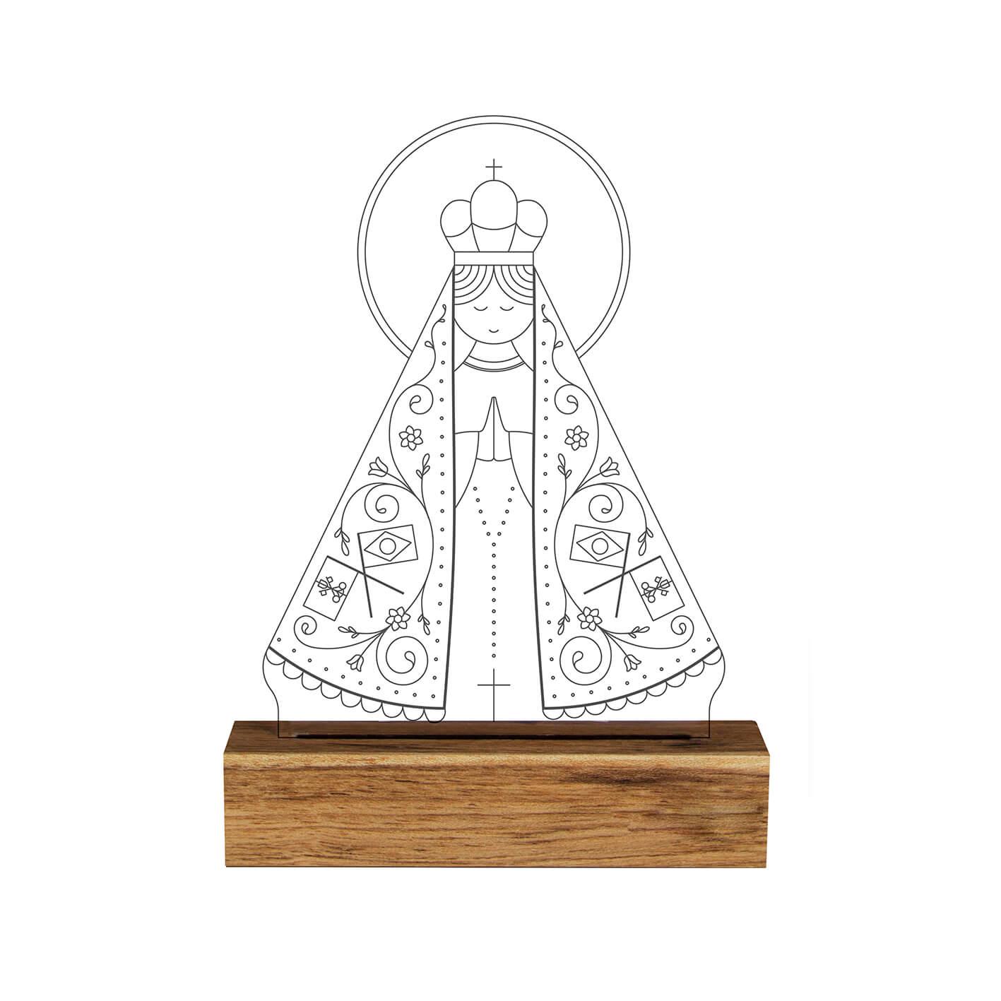 Fé - Luminária Nossa Senhora Aparecida