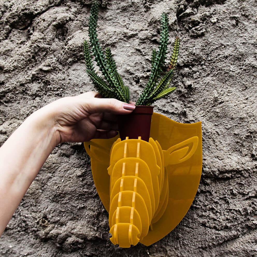 Cabeça para montar em acrilico amarelo - Ônix