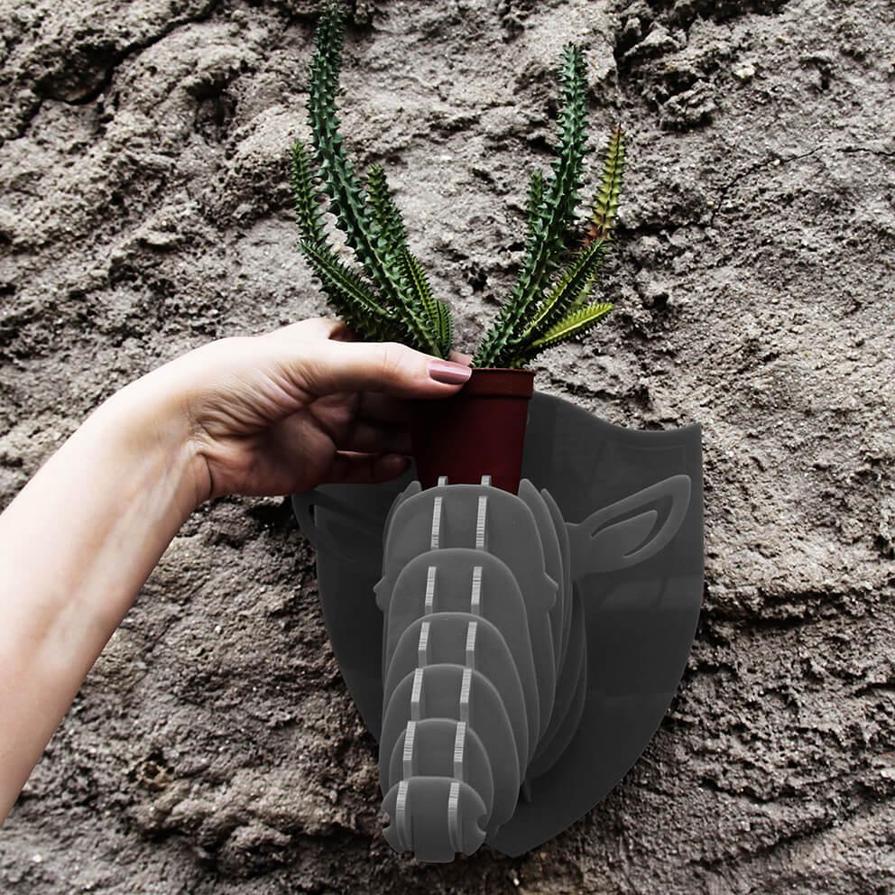 Cabeça para montar em acrilico cinza - Ônix