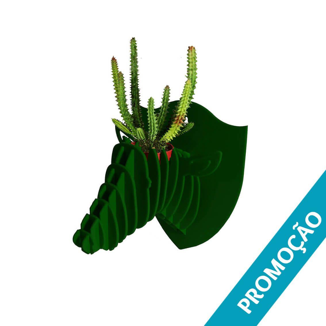 Cabeça para montar em acrilico verde escuro - Ônix