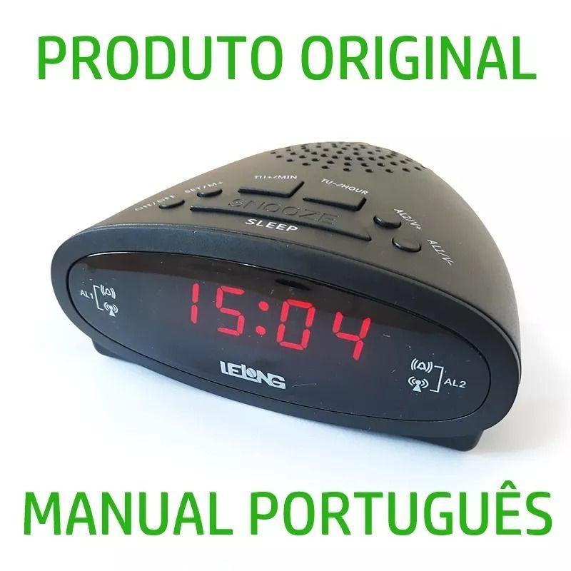 cc0bf5c5f8b Rádio Relógio Digital Alarme Duplo Despertador Fm Original