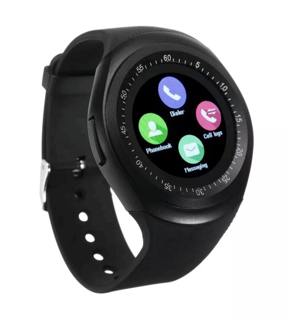 5c12cb284ed Y1 Relógio Inteligente Smart Watch Bluetooth Android Novo