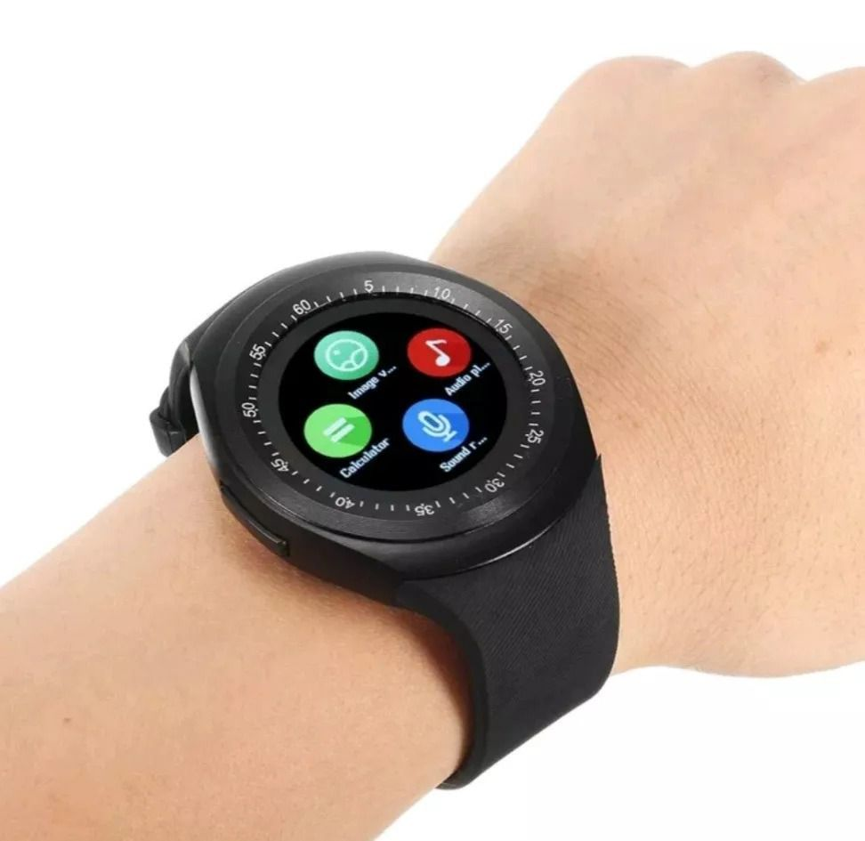 Y1 Relgio Inteligente Smart Watch Bluetooth Android Novo