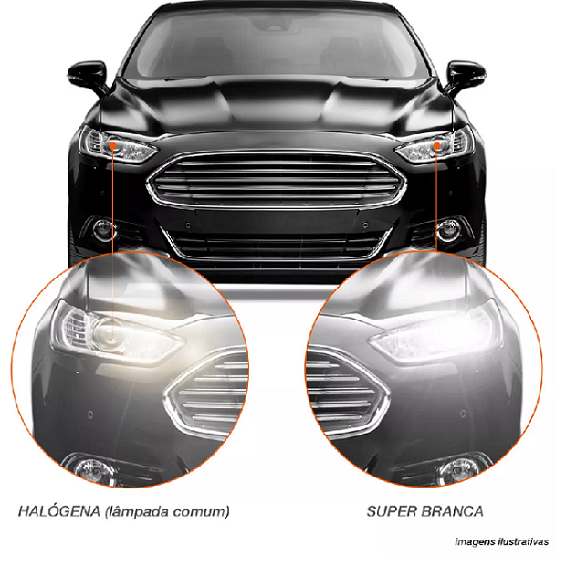 PAR LAMPADA H7 SUPER BRANCA 55W 12V 8500K marca qualyten