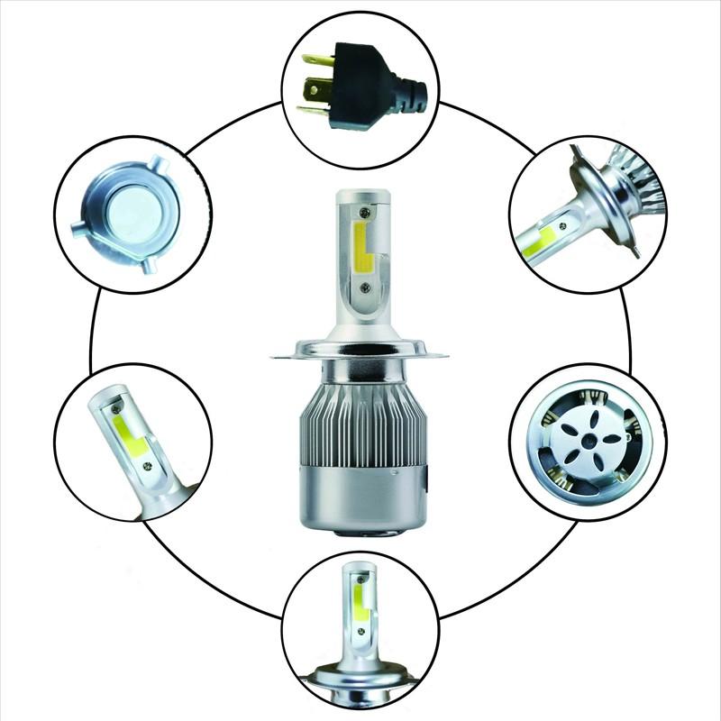 PAR LAMPADA LED H4 12V 72W 7600 LUMENS 6000K COM COOLER