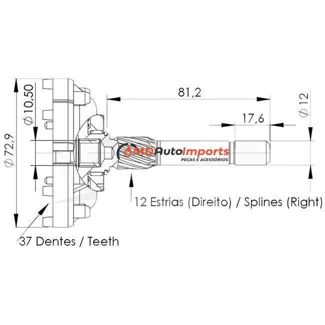 PLANETARIA MOTOR PARTIDA FORD RANGER 4.0 EXPLORER 4.0 F1000 F4000