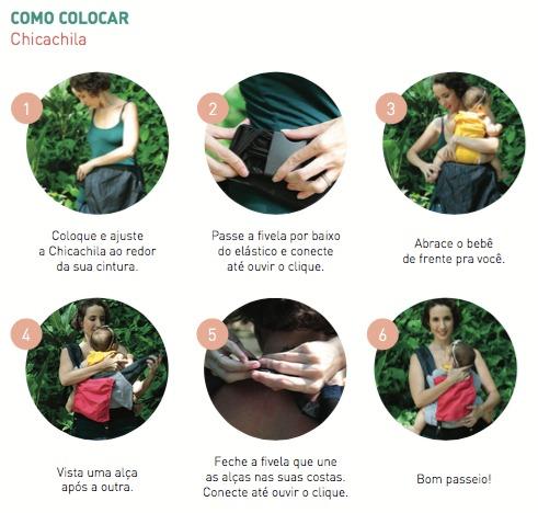 Chicachila Evolutiva Preta com Floral Marinho