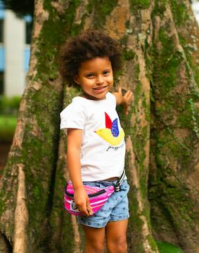 Pochete Infantil Rosa Andes