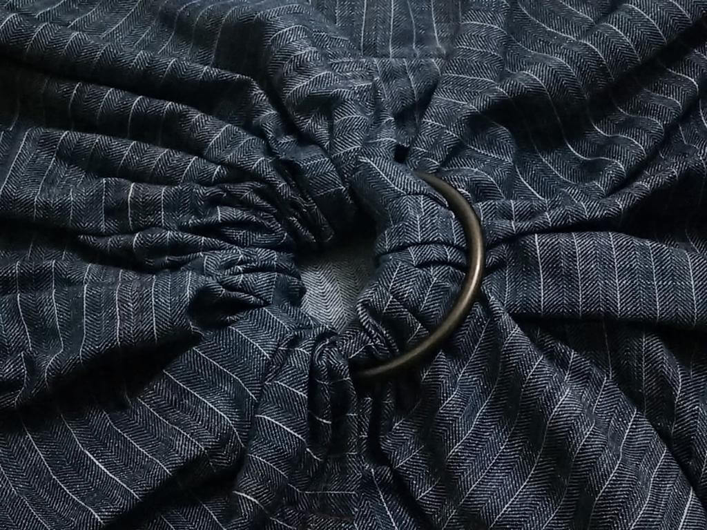 Sling de Argolas Jeans Escuro