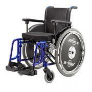 Cadeira de Rodas Ágile Alumínio Preta Adulto Jaguaribe