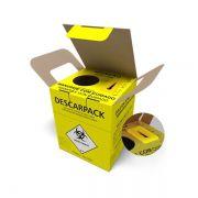 Caixa Coletora Materiais Perfurocortante 7 Litros Descarpack