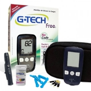 Kit Completo Medidor de Glicose no Sangue e Tiras G-TECH FREE