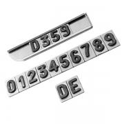 Números Radiológico de Chumbo 5 Séries de 0-9 + 2 Letras D, E 7mm EMB