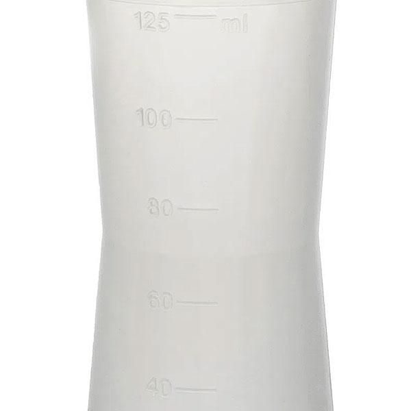 Almotolia Plástica Ambulatorial Natural Bico Reto 125 ml JProlab