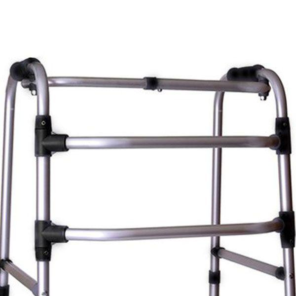 Andador Alumínio Articulado e Dobrável Com Regulagem 3 Barras ALO