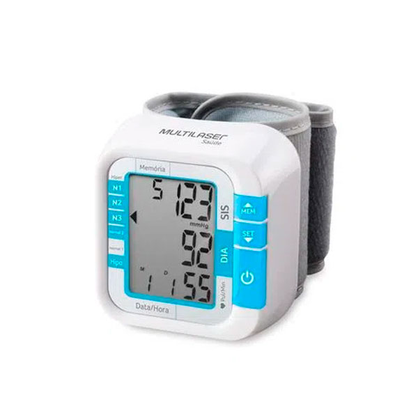 Aparelho Medidor de Pressão Digital Automático de Pulso HC204 Multilaser