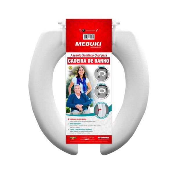 Assento Sanitário Aberto Para Cadeira de Banho 3cm Mebuki