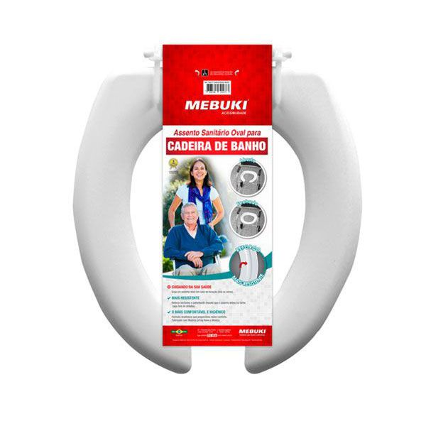 Assento Sanitário Almofadado Aberto Para Cadeira de banho 3cm Mebuki