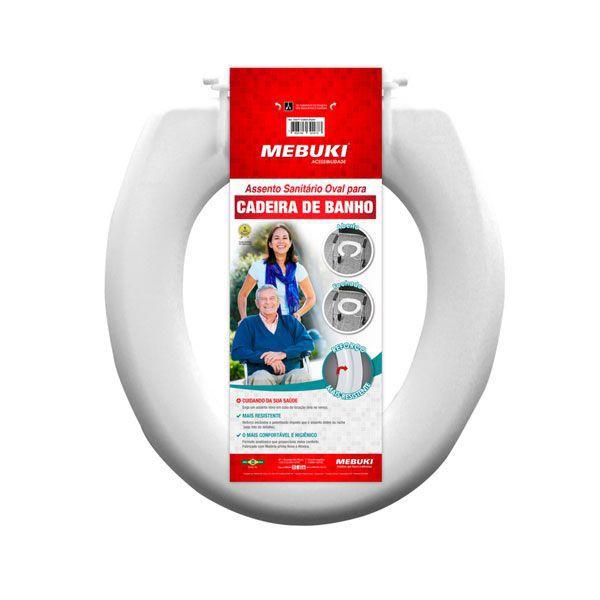 Assento Sanitário Fechado Para Cadeira de banho 3cm Mebuki