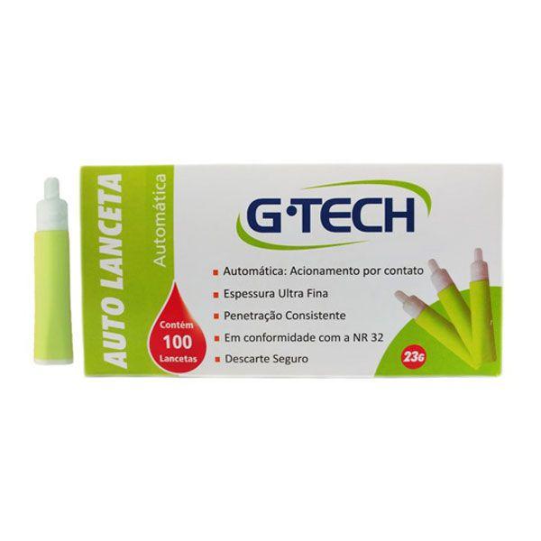Auto Lanceta Medição Glicose 23G 100un G-TECH