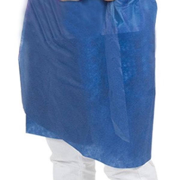 Avental Descartável Sem Manga Azul Marinho Gramatura Média Pacote Com 10 Unidades Dejamaro