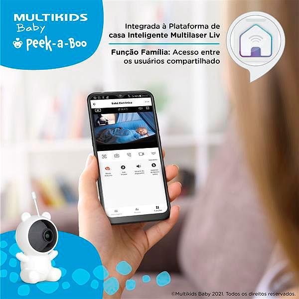 Babá Eletrônica Wifi Luz Noturna Peek-a-Boo BB1156 Multikids Baby