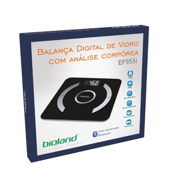 Balança Digital Bluetooth de Vidro com analise corpórea EF955i