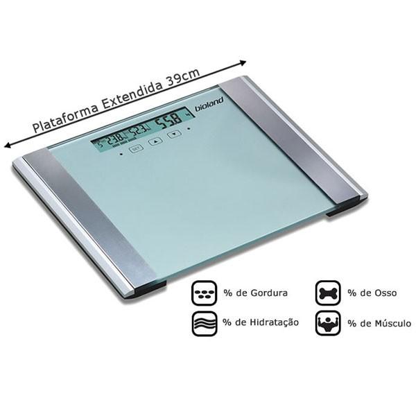 Balança Digital de Vidro com Analise Corpórea EF912 Bioland