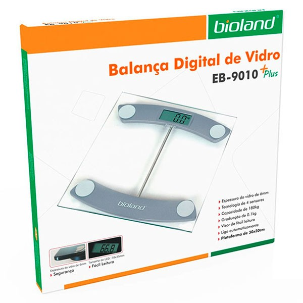 Balança Digital de Vidro Slim EB9010 Plus Bioland