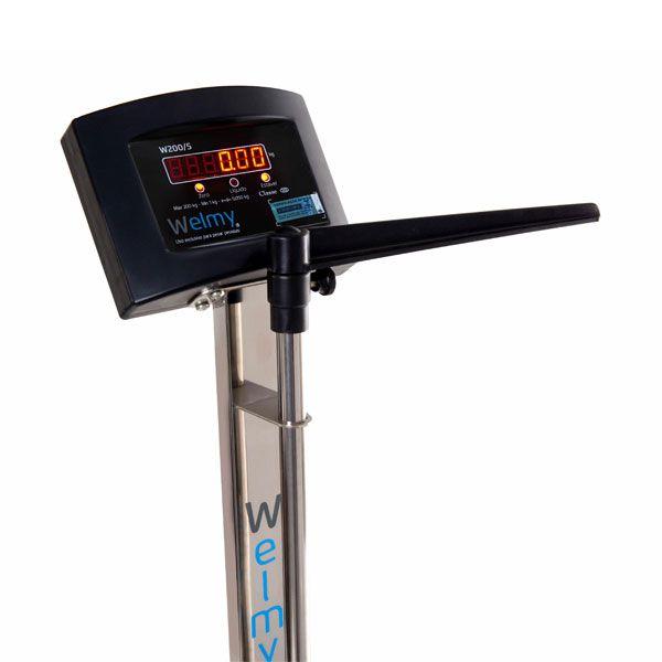 Balança Eletrônica Adulto W 200/50A Antropométrica Inox Welmy
