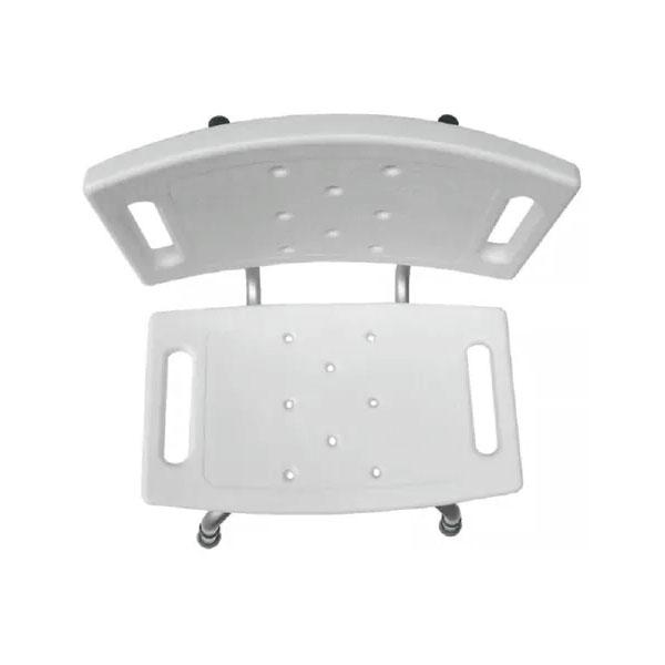 Banco Ortopédico de Alumínio Para Banho Com Encosto Supermedy