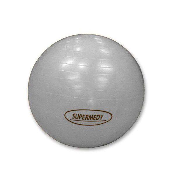 Bola Para Ginástica 85cm Prata Supermedy