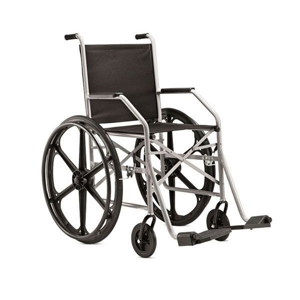 Cadeira de Rodas 1009 RN Assento em Nylon Cinza Jaguaribe
