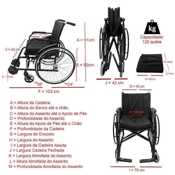 Cadeira de Rodas Active com Elevação de Pernas Adulto Dune