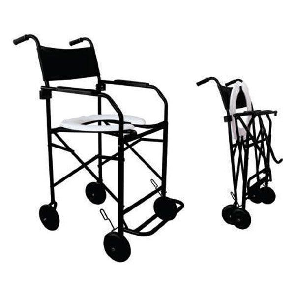 Cadeira de Rodas Para Banho Dobrável Braço e Pés Escamoteáveis CHD203 Dune
