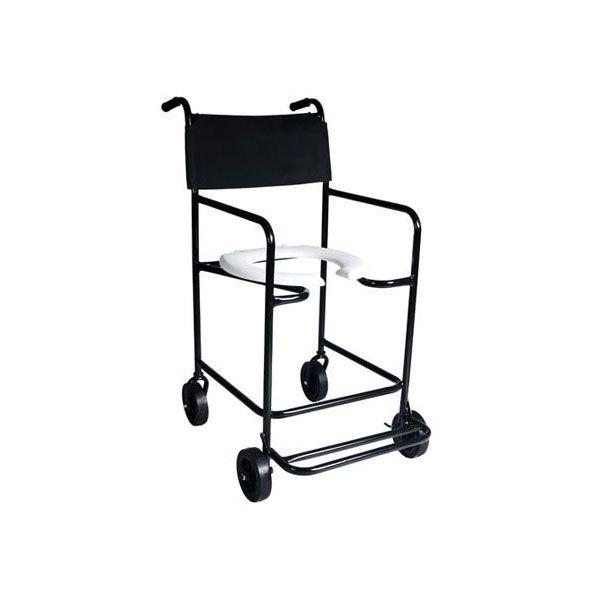 Cadeira de Rodas Para Banho Fixa com Descanso de Pés Escamoteável CH101 Dune