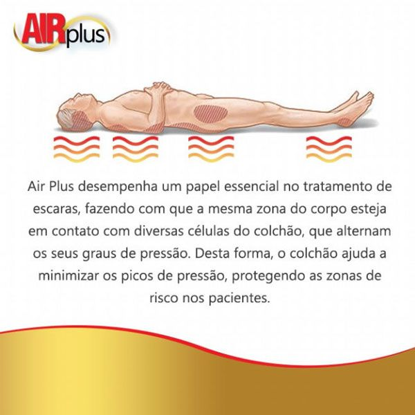 Colchão Pneumático Anti Escaras Air Plus Completo DellaMED