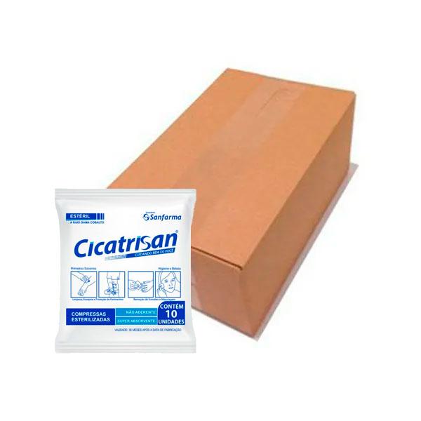 Compressas Esterilizadas Não Aderente 15x15 Caixa Com 40 UN Cicatrisan