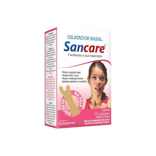 Dilatador Nasal Feminino caixa com 10 unidades Sancare