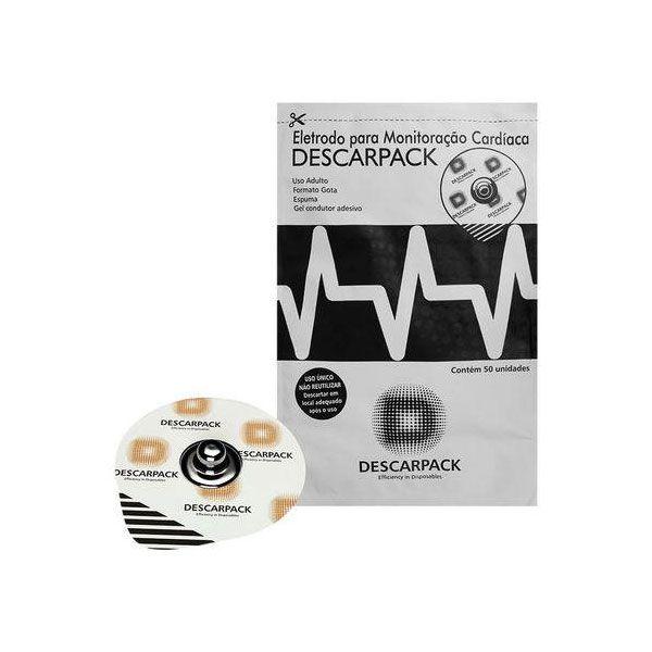 Eletrodo Para Monitoração Cardíaca Adulto Caixa 50 Unidades Descarpack