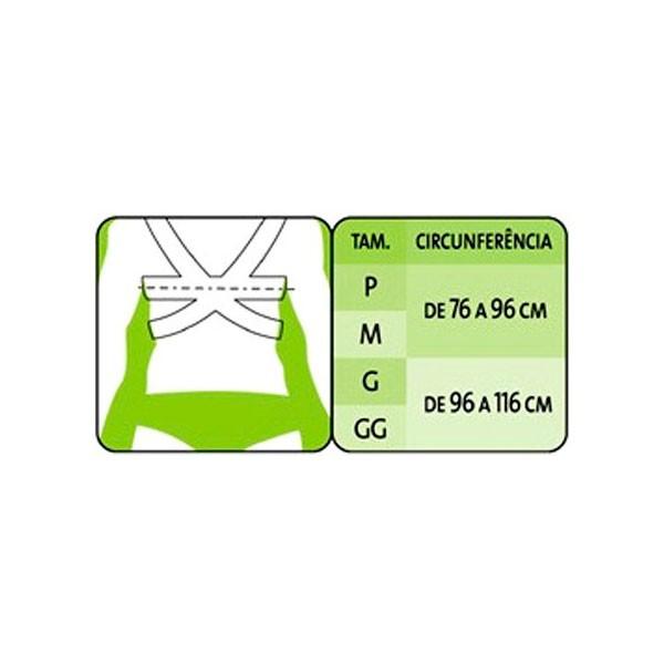Espaldeira Ortopédica em Tecido Tamanho M Ortofly