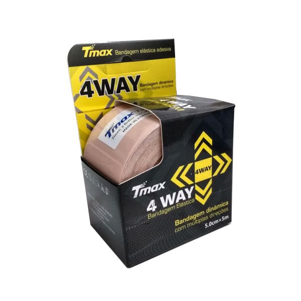 Fita Kinésio Bandagem Adesiva 4 Way Bege Tmax