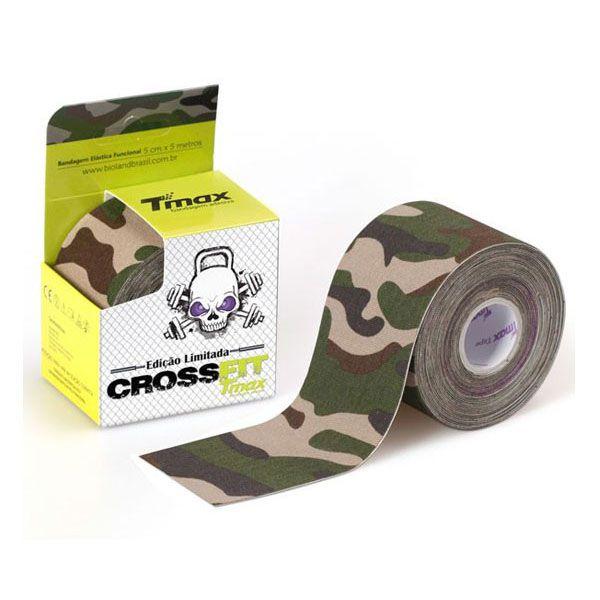 Fita Kinesio Bandagem Adesiva Crossfit Camuflado Verde Tmax