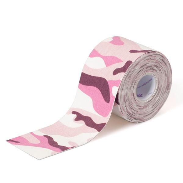 Fita Kinesio Bandagem Adesiva Crossfit Camuflado Rosa Tmax