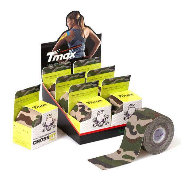 Fita Kinesio Bandagem Crossfit Camuflado 06 und. Verde Tmax