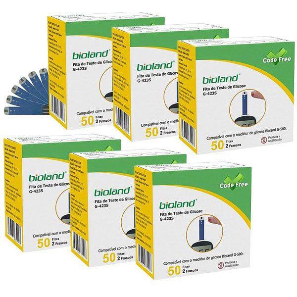Fita Para Medicao De Glicose G423S Bioland 6cx. com 50 fitas