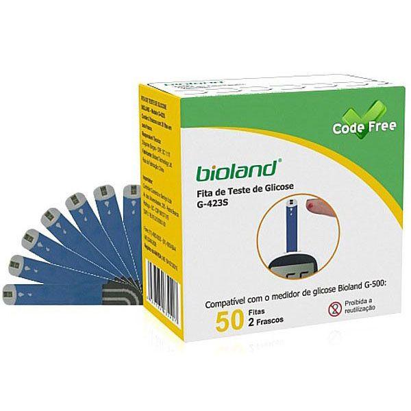 Fita Para Medição De Glicose G423S Bioland (com 50 fitas)