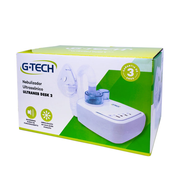 Inalador e Nebulizador Ultrassônico Ultraneb Desk 2 G-TECH