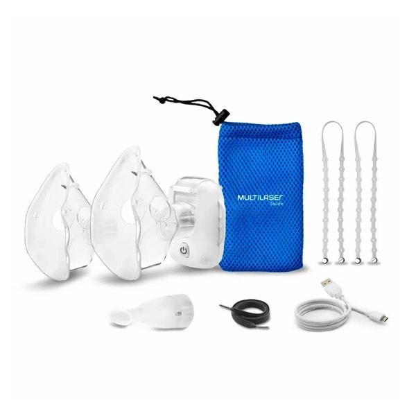 Inalador Portátil Mesh Air Mask Branco HC221 Multilaser